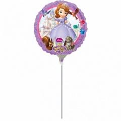 Balon Mini Folie Sofia Intai, Amscan, 23 cm, 27950