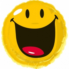 Balon Folie 45 cm Smiley Face Galben, Amscan 27443
