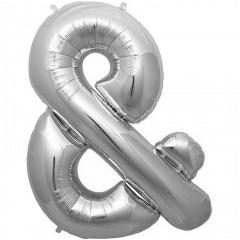 "Balon Folie Simbol & Argintiu - 16""/41 cm, Northstar Balloons 00942"