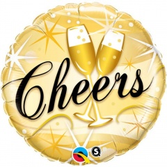 Balon Folie 45 cm Cheers, Qualatex 19031