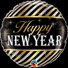 "Balon Folie 45 cm "" Happy New Year "", Qualatex 43525"