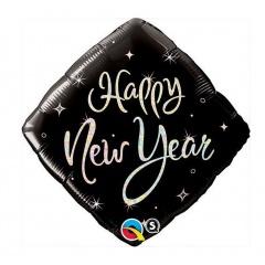 """Folie 45 cm """" Happy New Year """", Qualatex 27673"""