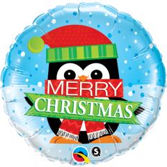 """Balon Folie 45 cm """" Merry Christmas """", Qualatex 18973"""