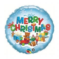 """Balon Folie 45 cm """" Merry Christmas """", Qualatex 40079"""