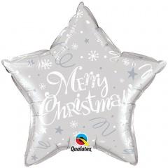 Balon Folie 51 cm Merry Christmas, Qualatex 99818