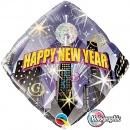 """Folie 45 cm """" Happy New Year """", Qualatex 54149"""