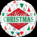 Balon Folie 45 cm Merry Christmas, Qualatex 43496