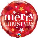 Balon Folie 45 cm Merry Christmas, Qualatex 43493