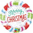 Balon Folie 45 cm A Little Merry Christmas to You, Qualatex 18953
