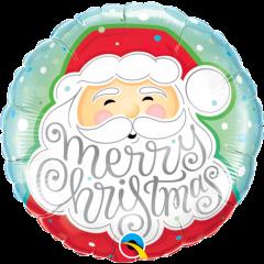 Balon Folie 45 cm Merry Christmas, Qualatex 43516