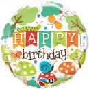 "Balon folie 45cm ""Happy Birthday"", Qualatex 25181"