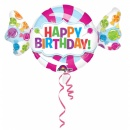 Balon folie figurina Sweetshop Birthday 101 x 60 cm, Amscan 31617