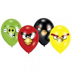 "Baloane latex 9""/23cm Angry Birds Asortate, Amscan 450299, Set 8 buc"