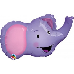 Balon Folie Minifigurina Cap Elefant, Qualatex, 35 cm, 16728