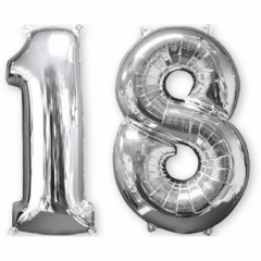 Balon Folie 45 cm Cifra 0, Amscan 12664
