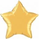 Balon folie metalizat stea auriu - 50cm, Qualatex 35433