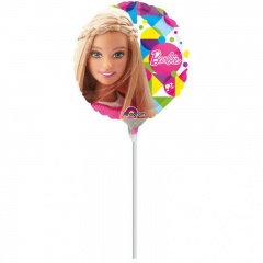 Balon Mini Folie Barbie 23 cm- umflat + bat si rozeta, Amscan 30657