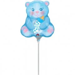 Balon Mini Figurina It's A Boy 20 x 22 cm - umflat + bat si rozeta, Amscan 33656