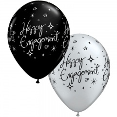 "Baloane latex sidef 11"" Asortate Happy Engagement, Qualatex 38852"