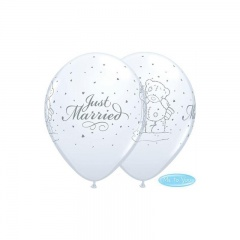 "Baloane latex 11"" inscriptionate Just Married - Me to You, Qualatex 13089"