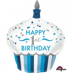 Balon Folie Figurina Happy 1st Birthday - 73 x 91 cm, Amscan 34523