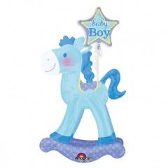 Balon Folie Figurina AirWalker Calut Baby Boy - 58 x 127 cm, Amscan 30711