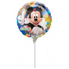 Balon mini folie 23cm Mickey  + bat si rozeta, Amscan 21000