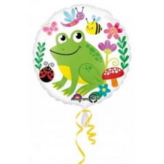 Balon Folie 45 cm Happy Frog & Friends, Amscan 32452