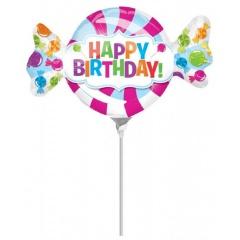Balon mini figurina Sweetshop Birthday 33 x 20 cm, Amscan 32622