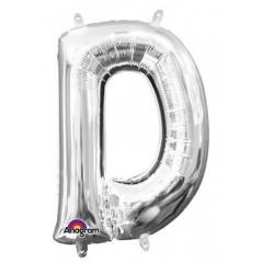 Balon Folie Litera D Argintiu - 41 cm, Amscan 33017