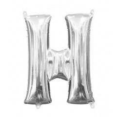 Balon Folie Litera H Argintiu - 41 cm, Amscan 33026