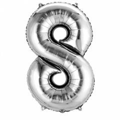 Baslon Folie Mare Cifra 8 Argintiu - 83 cm, Amscan 27988