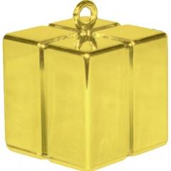 Greutate pentru baloane forma cadou - auriu, Qualatex 14390