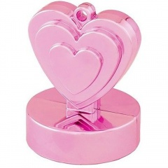 Greutate pentru baloane forma inima - roz, Qualatex 12472
