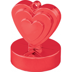 Greutate pentru baloane forma inima - rosu, Qualatex 12475
