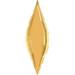 Balon Folie Auriu Metalizat Taper - 33 cm, Qualatex 17125