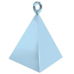 Greutate pentru baloane forma piramida - light blue, Qualatex 14406