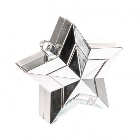 Greutate Stea Argintie pentru Baloane cu Heliu, Qualatex 38787