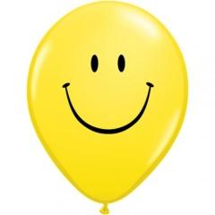 "Baloane latex 11""/28cm inscriptionate Smiley Face, Qualatex 85986"