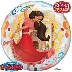 "Balon Bubble 22""/56 cm, Elena din Avalor, Qualatex 49325"