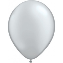 "Balon Latex, Silver, 9"" Qualatex 43707"