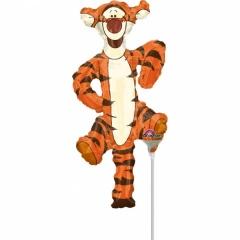 Balon Mini Figurina Tigru + bat si rozeta, Amscan 26325
