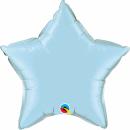 Balon folie metalizat stea light blue - 45 cm, Qualatex 54802, 1 buc