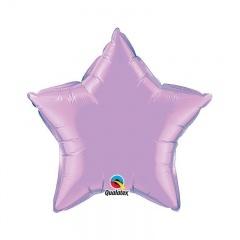Balon folie metalizat stea lavanda - 45 cm, Qualatex 54807, 1 buc