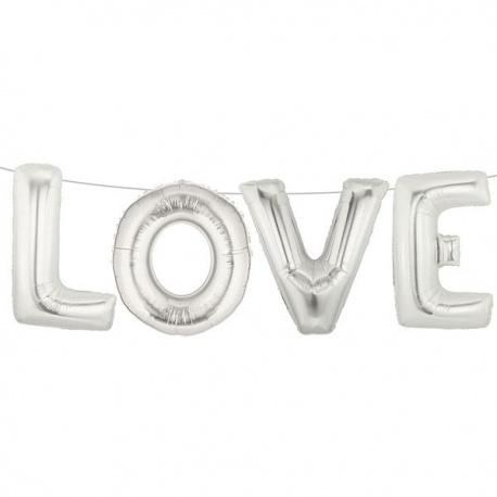 Pachet litere LOVE 41 cm argintiu, Anagram