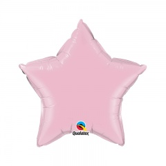 Balon folie metalizat stea pink - 45 cm, Qualatex 54805