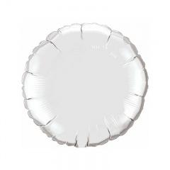 Balon folie argintiu metalizat rotund - 45 cm, Qualatex 23145, 1 buc