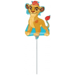 Balon mini figurina Lion Guard - 36cm, umflat + bat si rozeta, Amscan 34646