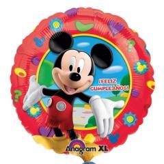 "Balon folie 45cm ""Feliz Cumpleaños"" cu Mickey Mouse, Amscan 17873"