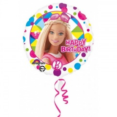 Balon Folie 45 cm Barbie Sparkle Happy Birthday, Amscan 30654